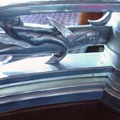 Observation Lounge metal balustrade