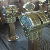 Bridge engine telegraphs and steering gear