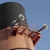 The forward funnel of the RMS Queen Mary