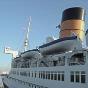 The forward superstructure of the RMS Queen Mary