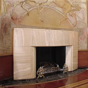 Fireplace in the Cabin Class Lounge