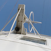 The bridge of the RMS Queen Mary