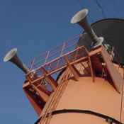 The RMS Queen Mary's funnels